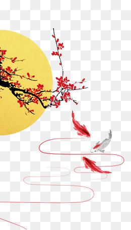 中秋新年节日贺卡背景