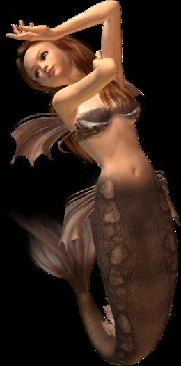 美人鱼透明背景PNG