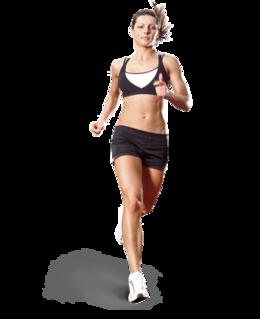 奔跑的女孩PNG图像