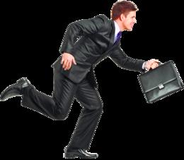 跑步的商人PNG图像