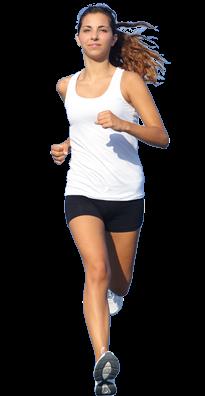 跑步的女人PNG图像