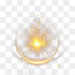 黄色旋转光效