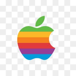彩色条带苹果logo