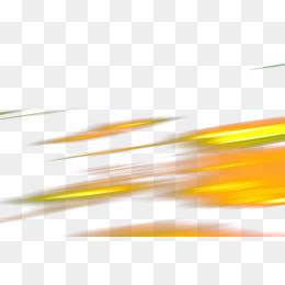 黄色发光速度直线