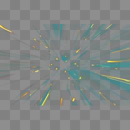 创意素材光影特效 炫酷蓝色放射