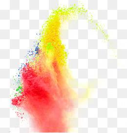 彩色粉尘效果元素