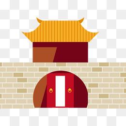 中國建筑矢量素材