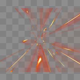 創意素材  紅色炫酷放射光線