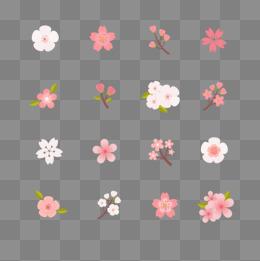 矢量小花朵