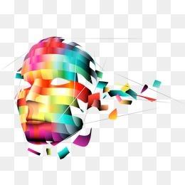 现代科技 五彩缤纷   人脸 面具