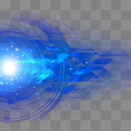 蓝色科技光效