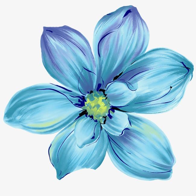 蓝色花,来自爱设计http://www.asj.com.cn