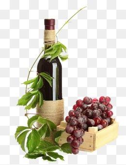 藤蔓缠绕的葡萄酒