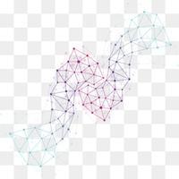 藍色科技線條背景矢量素材