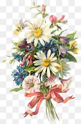 仙境元素花图片  春天唯美花簇