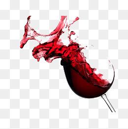 喷溅的红酒
