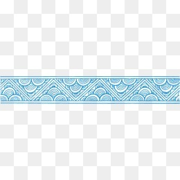 中国风海浪浪花边框底纹