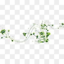 动感的的绿色植物